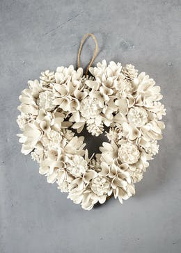 Heart Christmas Wreath (37cm)