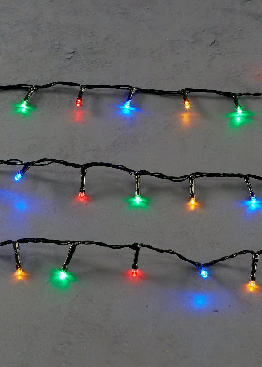120 Multicoloured LED String Lights (6m)