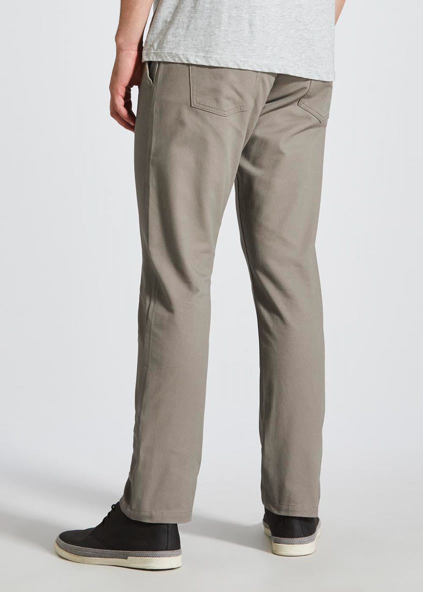 5 Pocket Slim Fit Textured Trousers