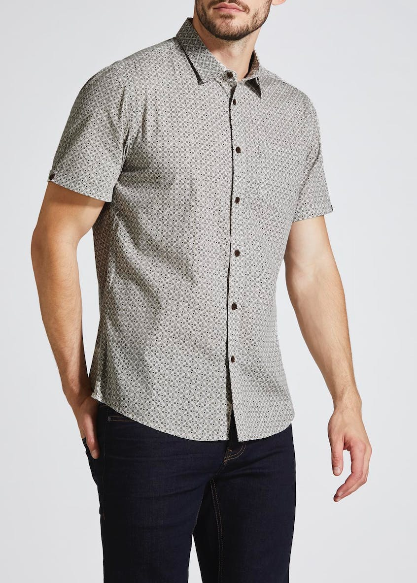Short Sleeve Geometric Shirt