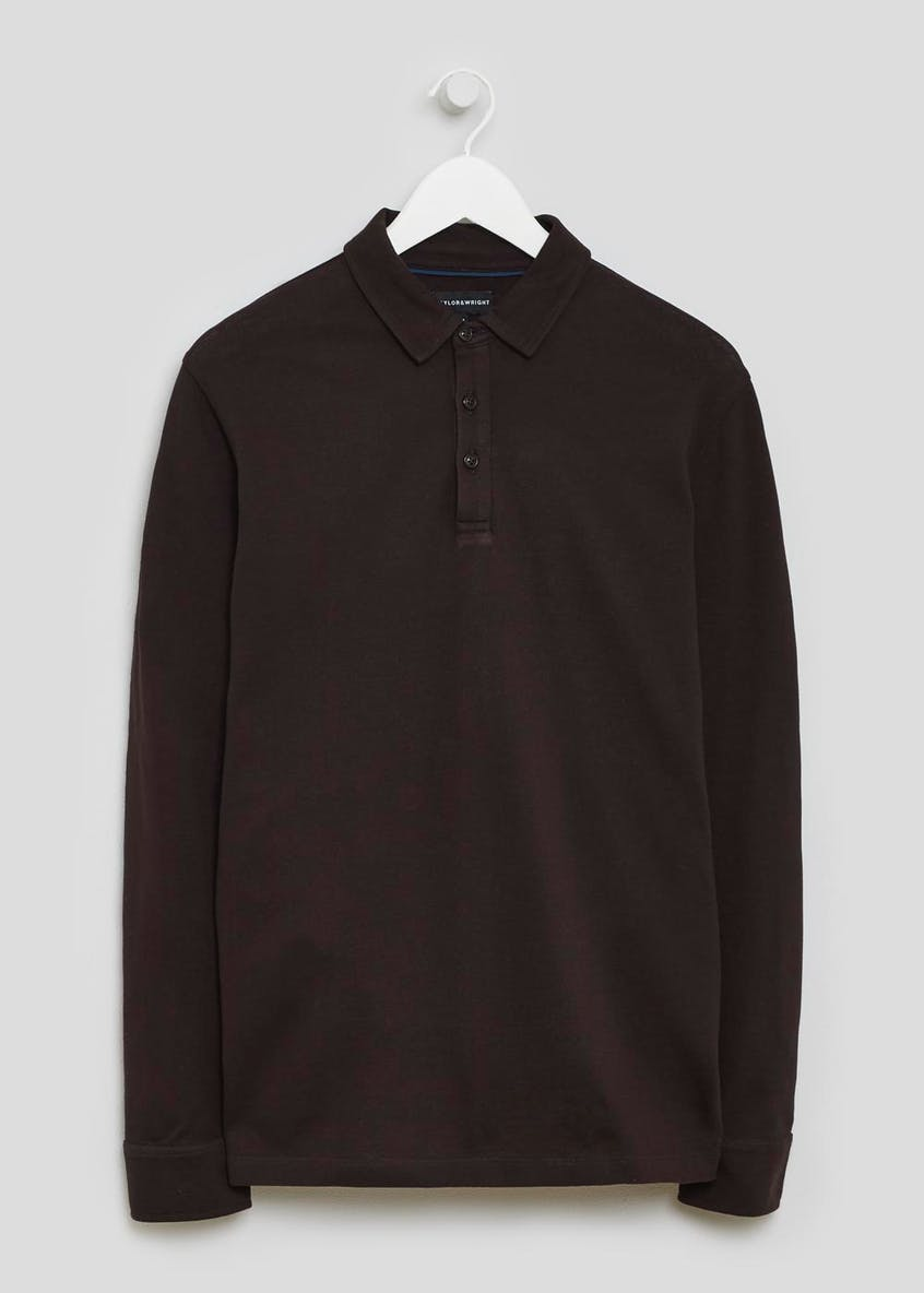 Burke Mercerised Long Sleeve Polo Shirt