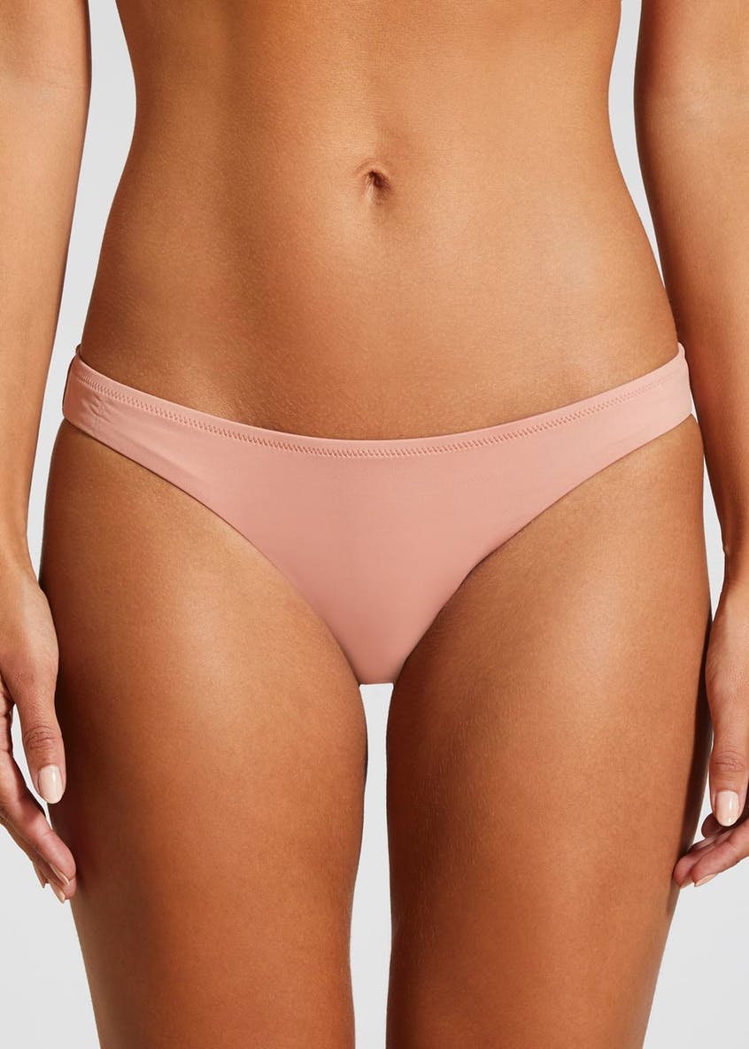Oh My Love Ruched Back Hipster Bikini Bottoms