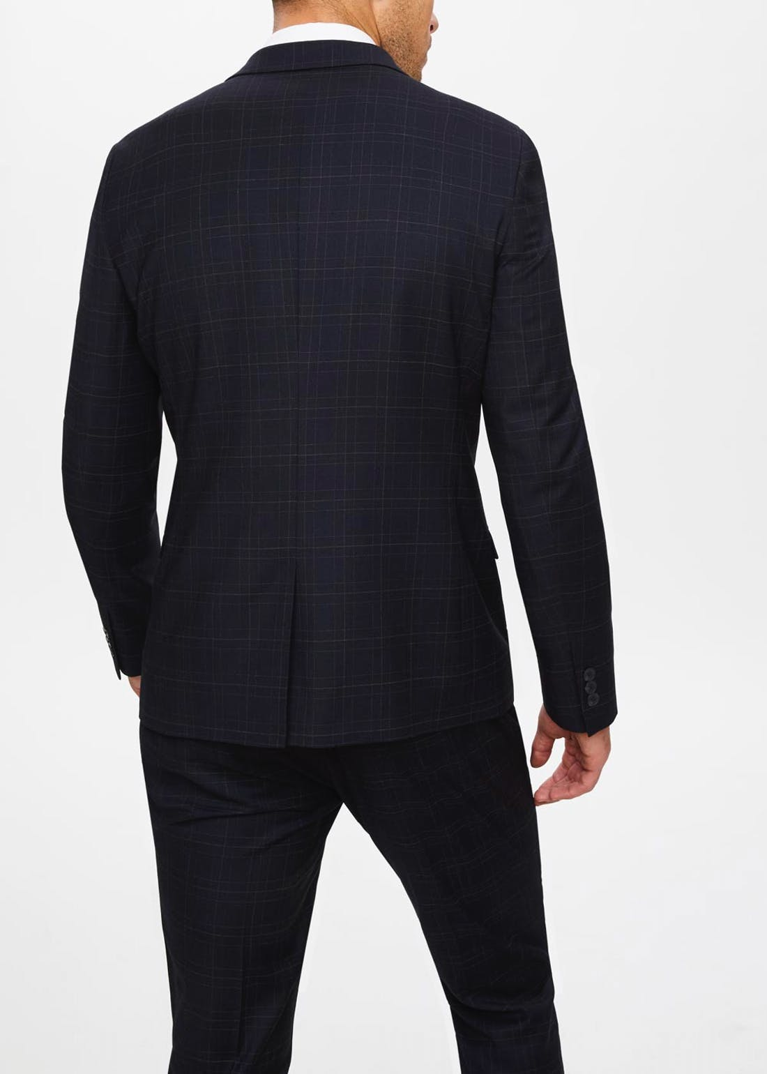 Hopkins Skinny Fit Check Suit Jacket