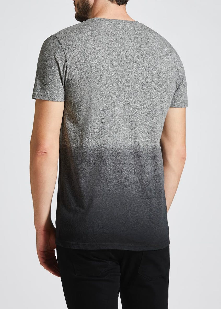 Graphic Print Dip Dye T-Shirt
