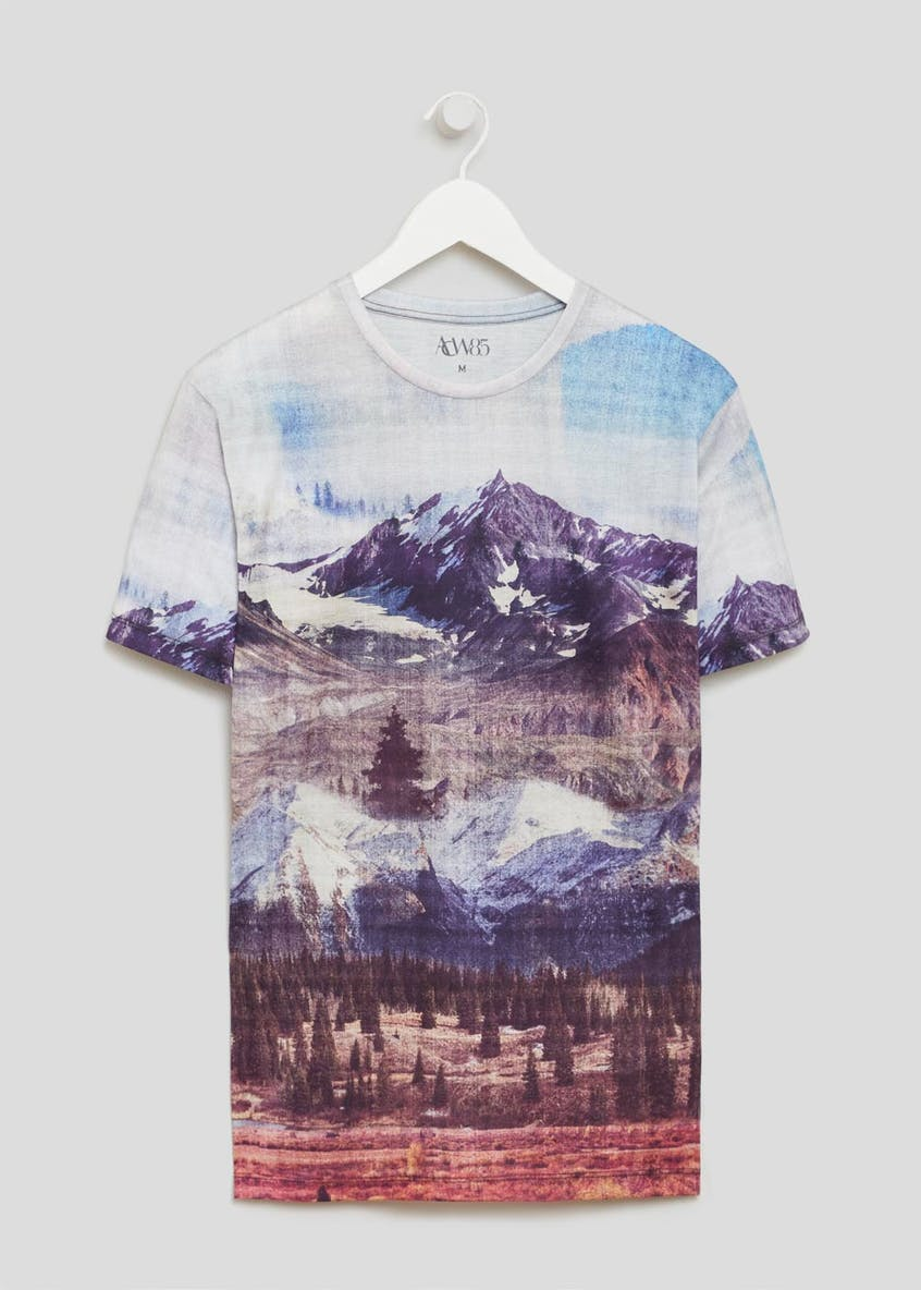 Mountain Scene Printed T-Shirt
