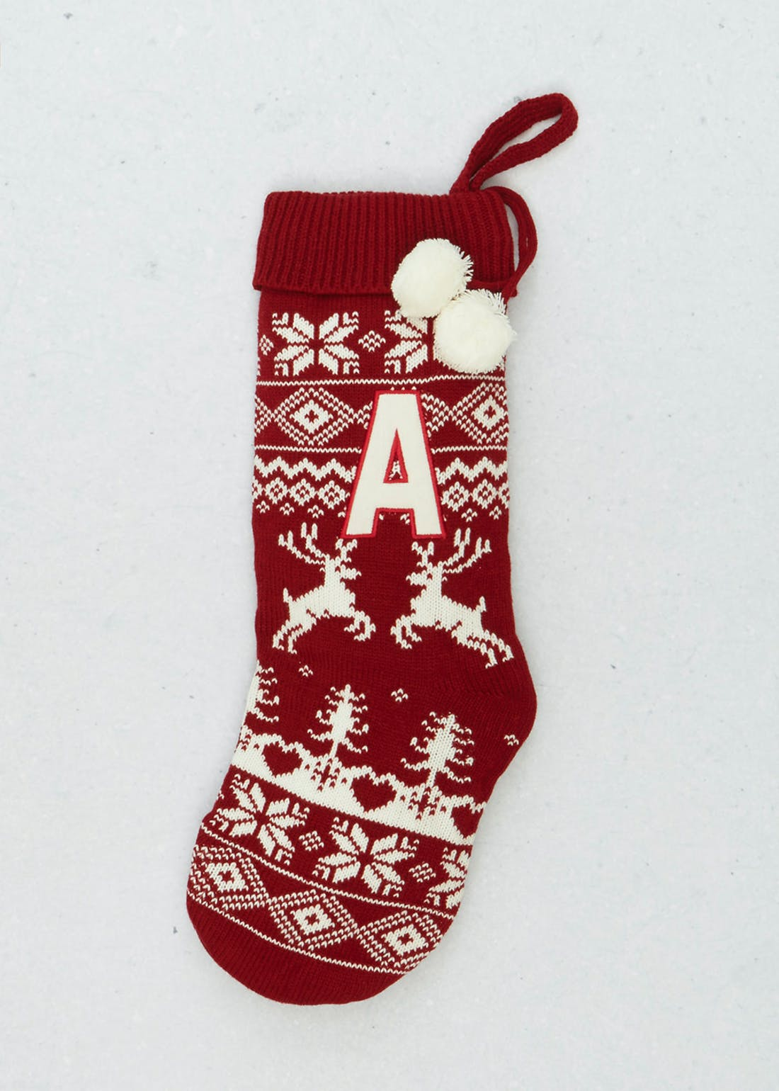 A-Z Alphabet Christmas Stocking