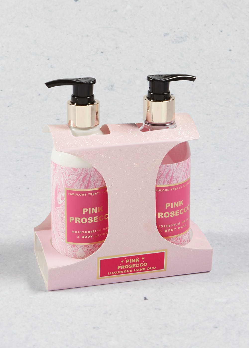 Prosecco Scented Body Wash & Lotion Gift Set (18cm x 12cm x 8cm)