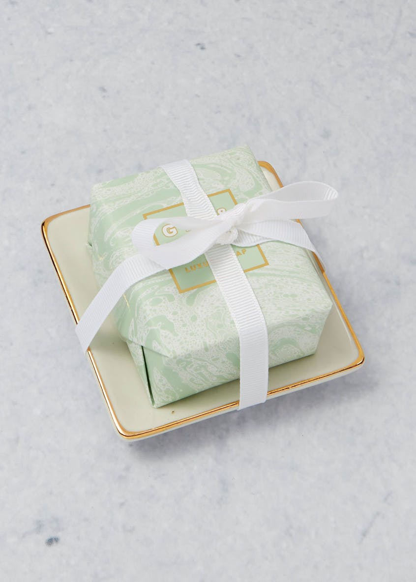 Gin & Tonic Scented Soap Dish Gift Set (10cm x 10cm x 2cm)