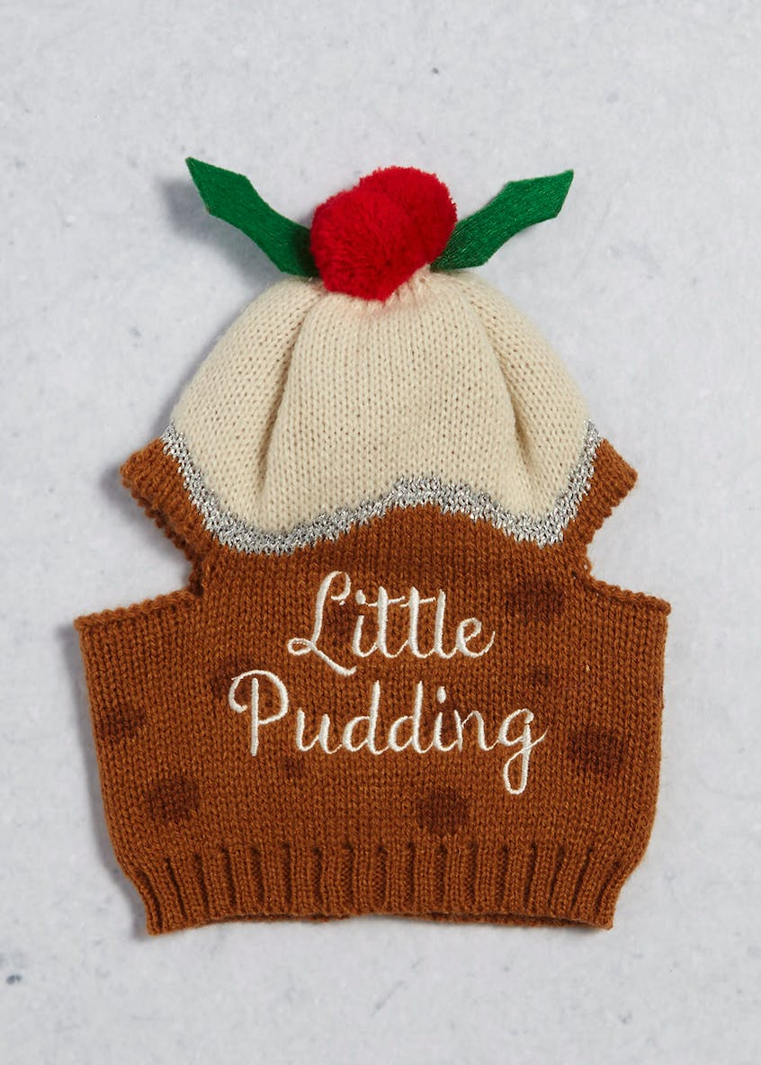 Christmas Pudding Pet Hat (20cm x 16cm)