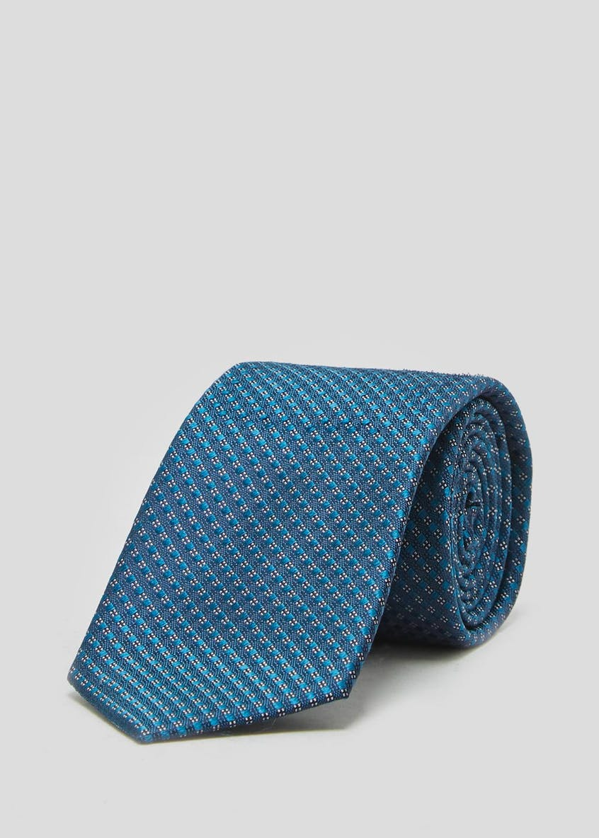 100% Silk Diamond Geometric Tie