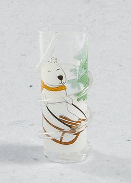 Polar Bear Twist Straw Christmas Tumbler (17cm)