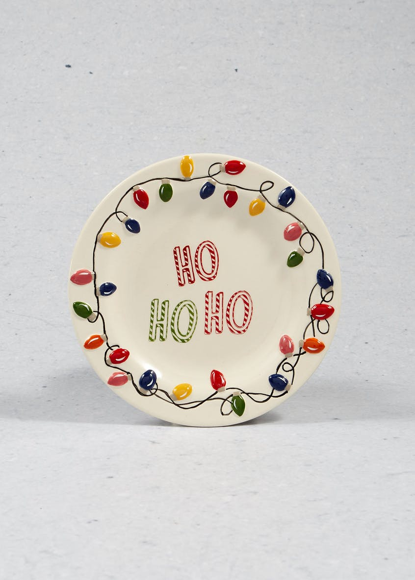 Hand Painted Lights Christmas Plate (19cm)