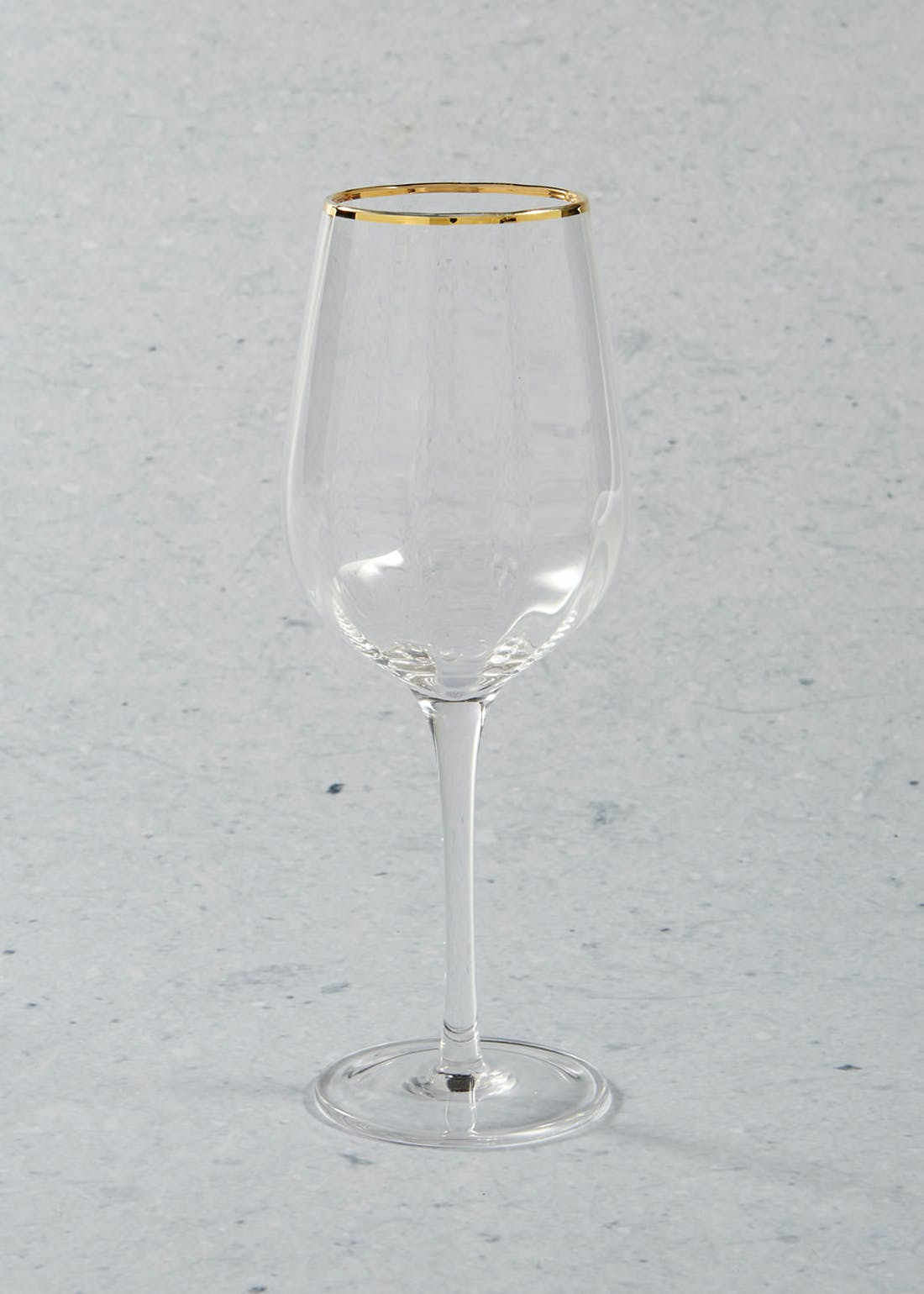 Gold Rim Christmas Wine Glass (23cm)
