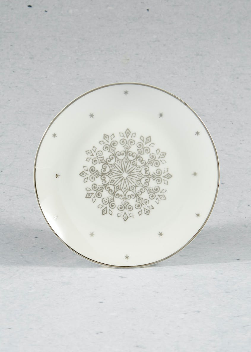 Metallic Snowflake Side Plate (19cm)