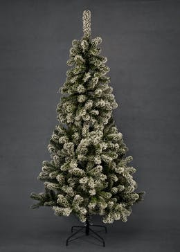 artificial snowy christmas tree 7ft