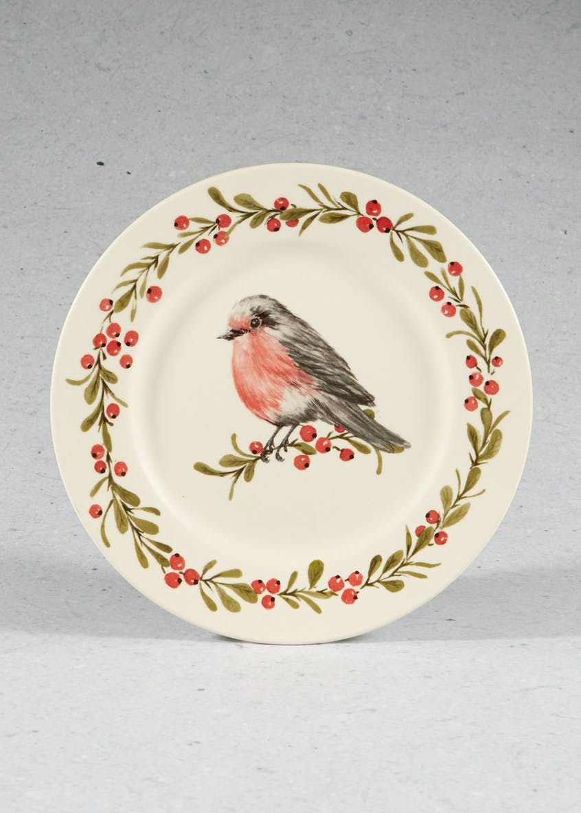 Robin Christmas Dinner Plate (27cm)
