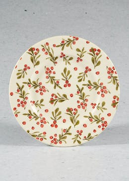 Holly Leaf Christmas Side Plate (22cm)
