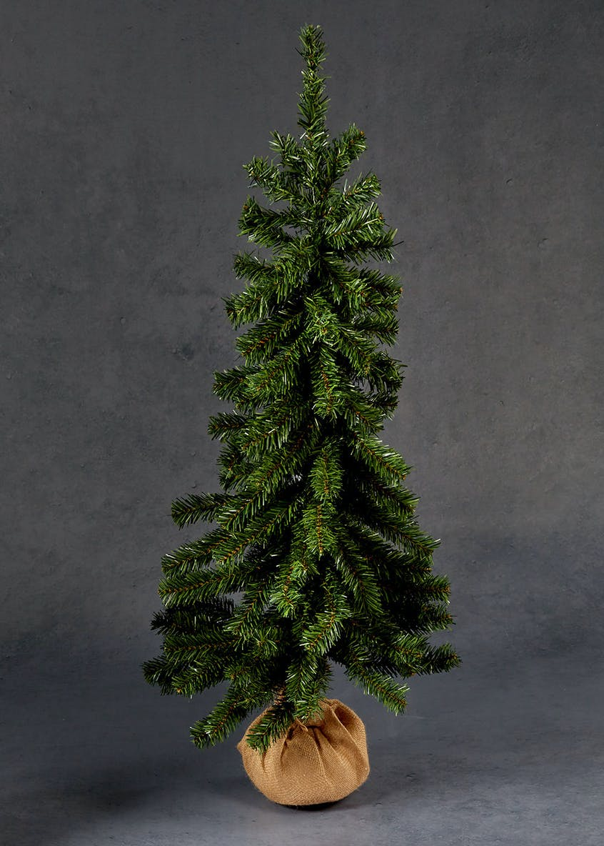 Christmas Tree in Jute Bag (88cm)