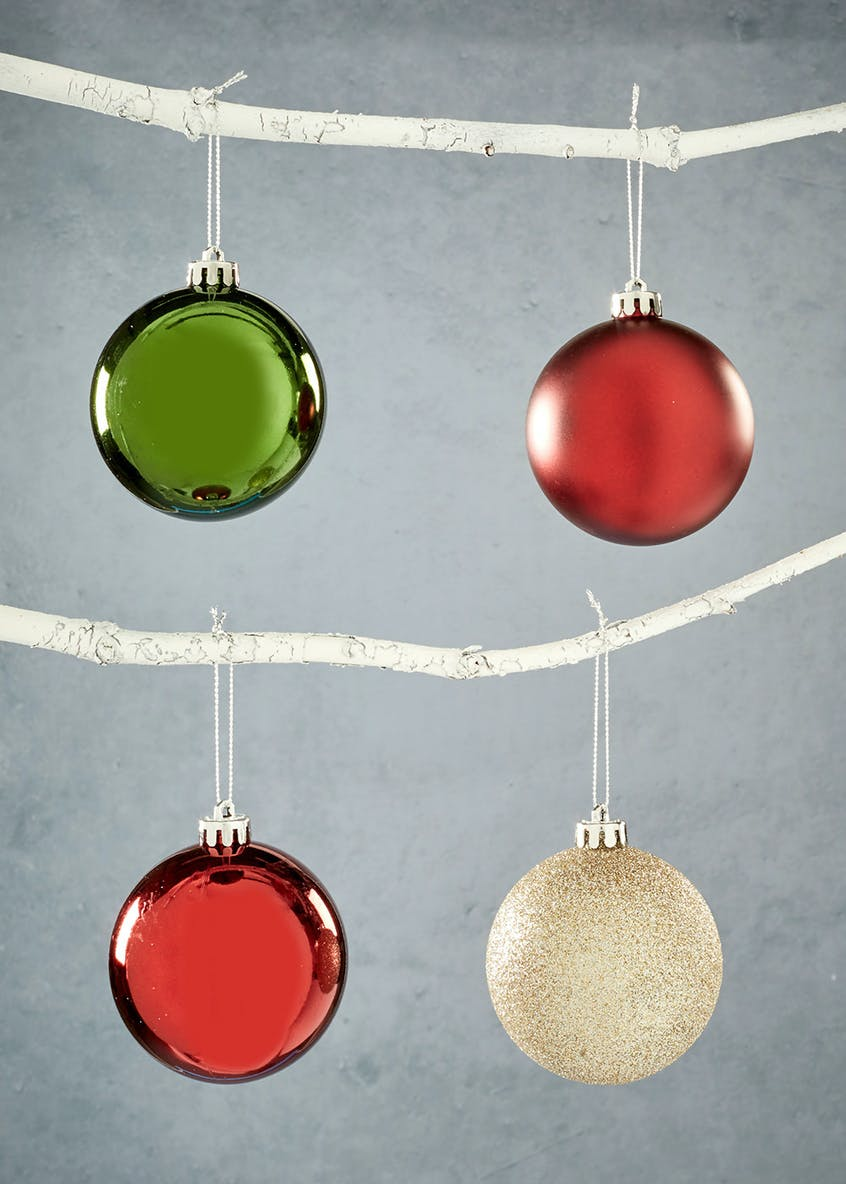 20 Pack Shatterproof Christmas Tree Baubles