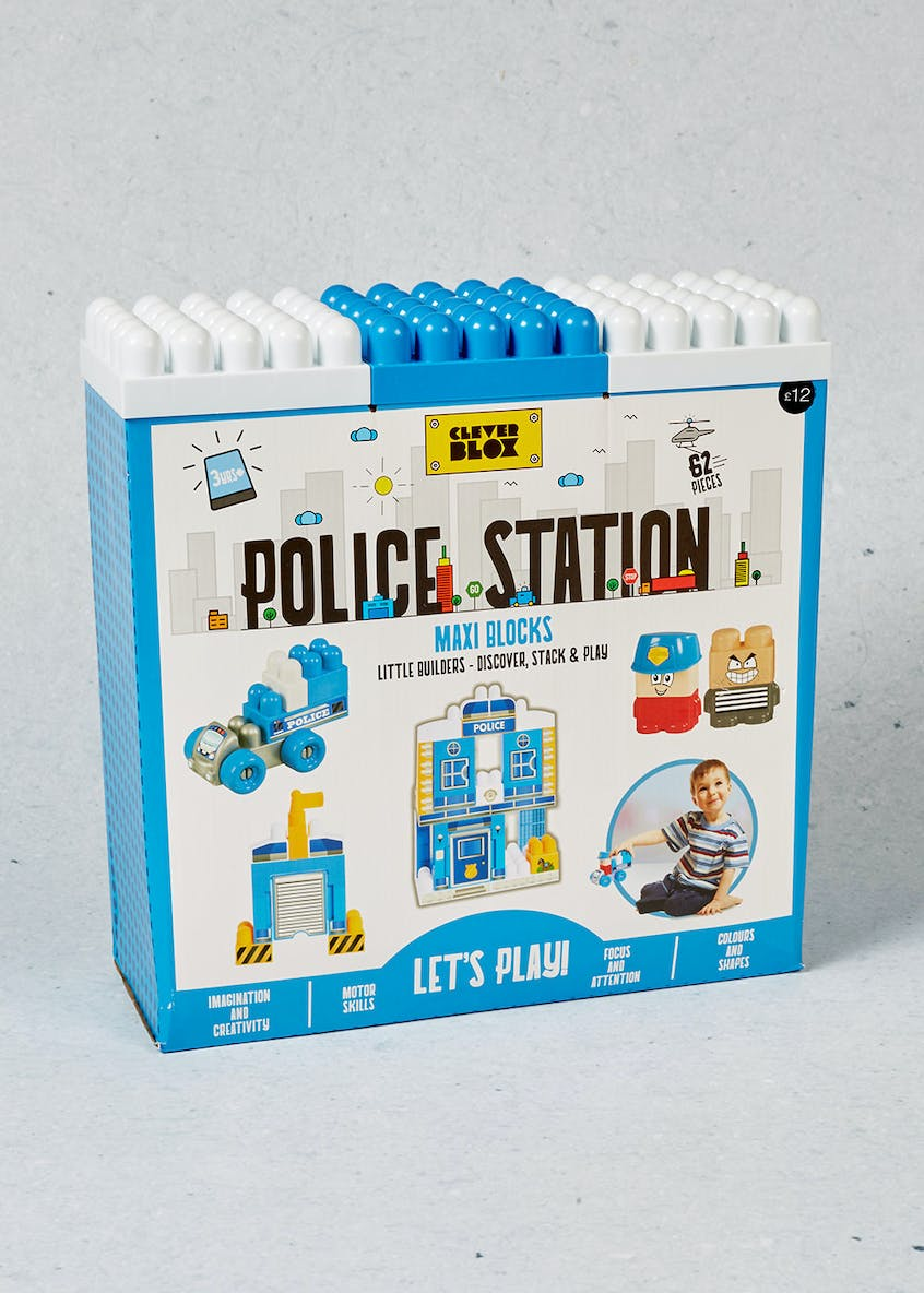 Kids Clever Box Police Station Maxi Blocks