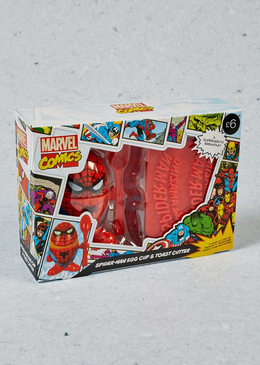 Marvel Spider-Man Egg Cup & Toast Cutter (20cm x 14cm x 6cm)