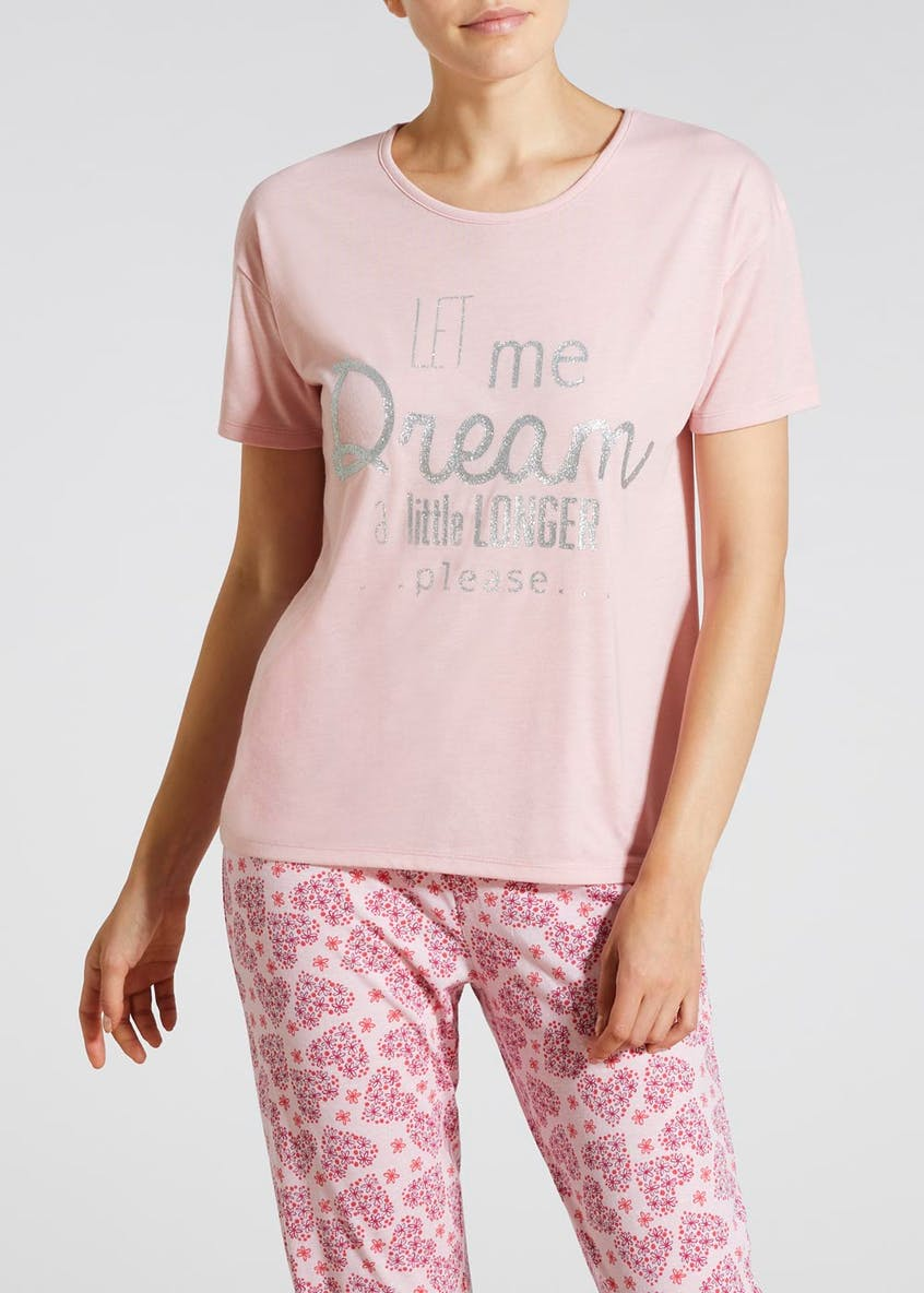 Mix & Match Dream Slogan Pyjama Top