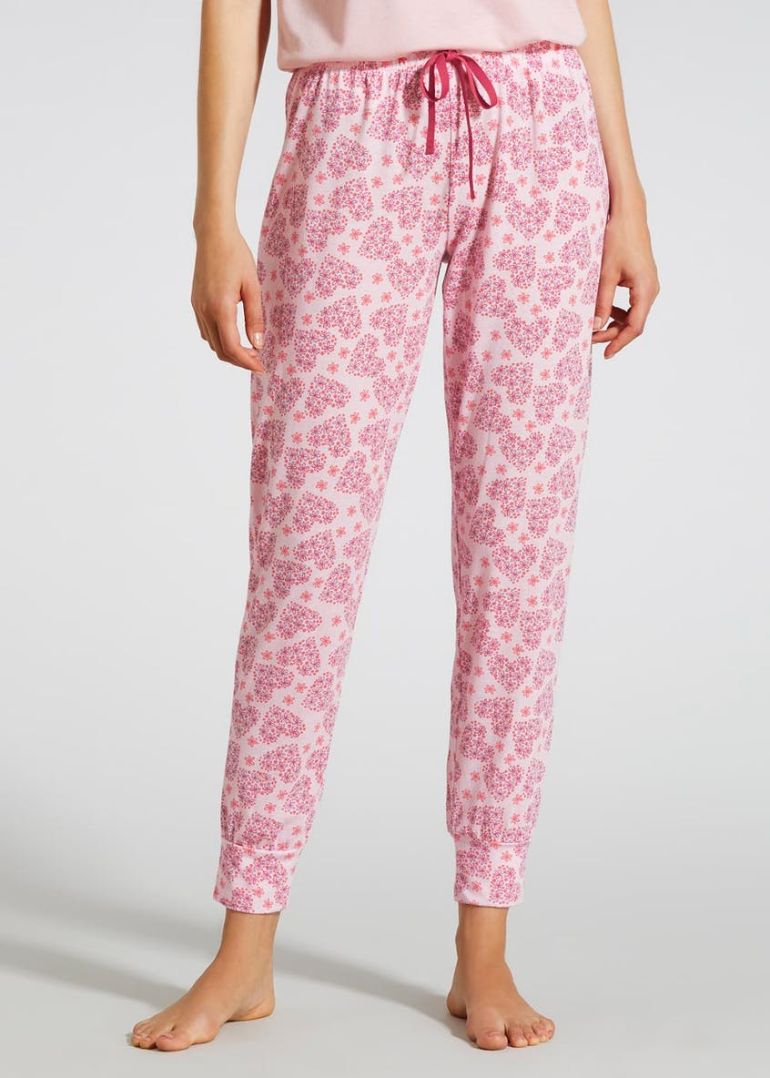 Mix & Match Floral Heart Cuffed Pyjama Bottoms