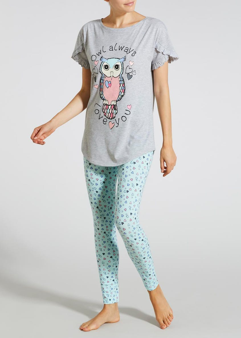 Owl Slogan Pyjama Set