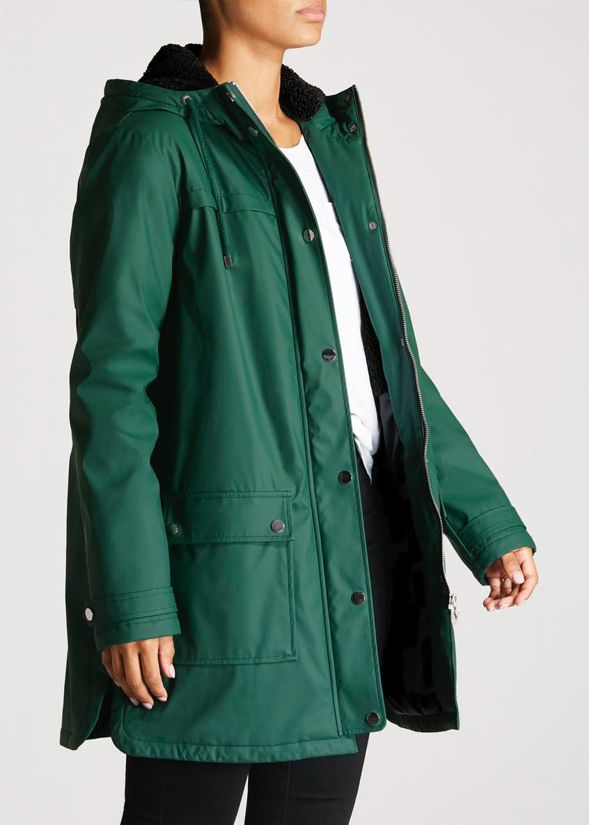 Borg Lined Rain Mac
