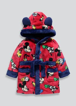 Kids Disney Mickey Mouse Dressing Gown (3mths-5yrs)