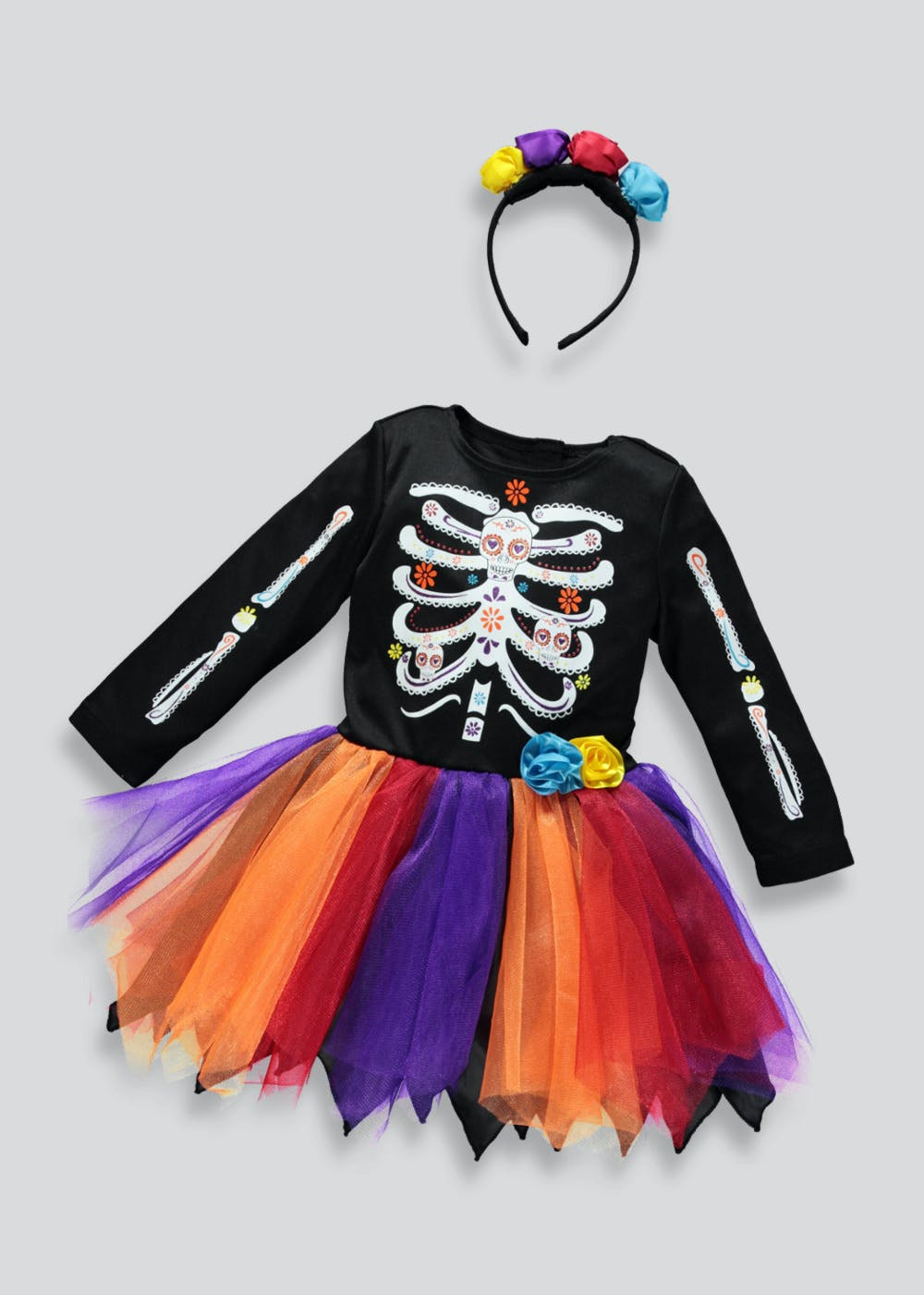 af3739cb99b Kids Day Of The Dead Halloween Costume (12mths-11yrs)