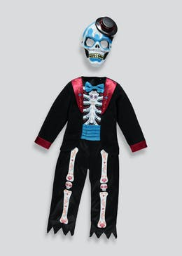 kids day of the dead halloween costume 12mths 11yrs