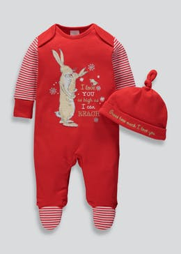 unisex guess how much i love you christmas sleepsuit newborn 9mths
