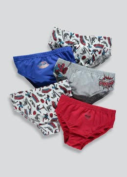 Kids 5 Pack Spider-Man Briefs (2-9yrs)