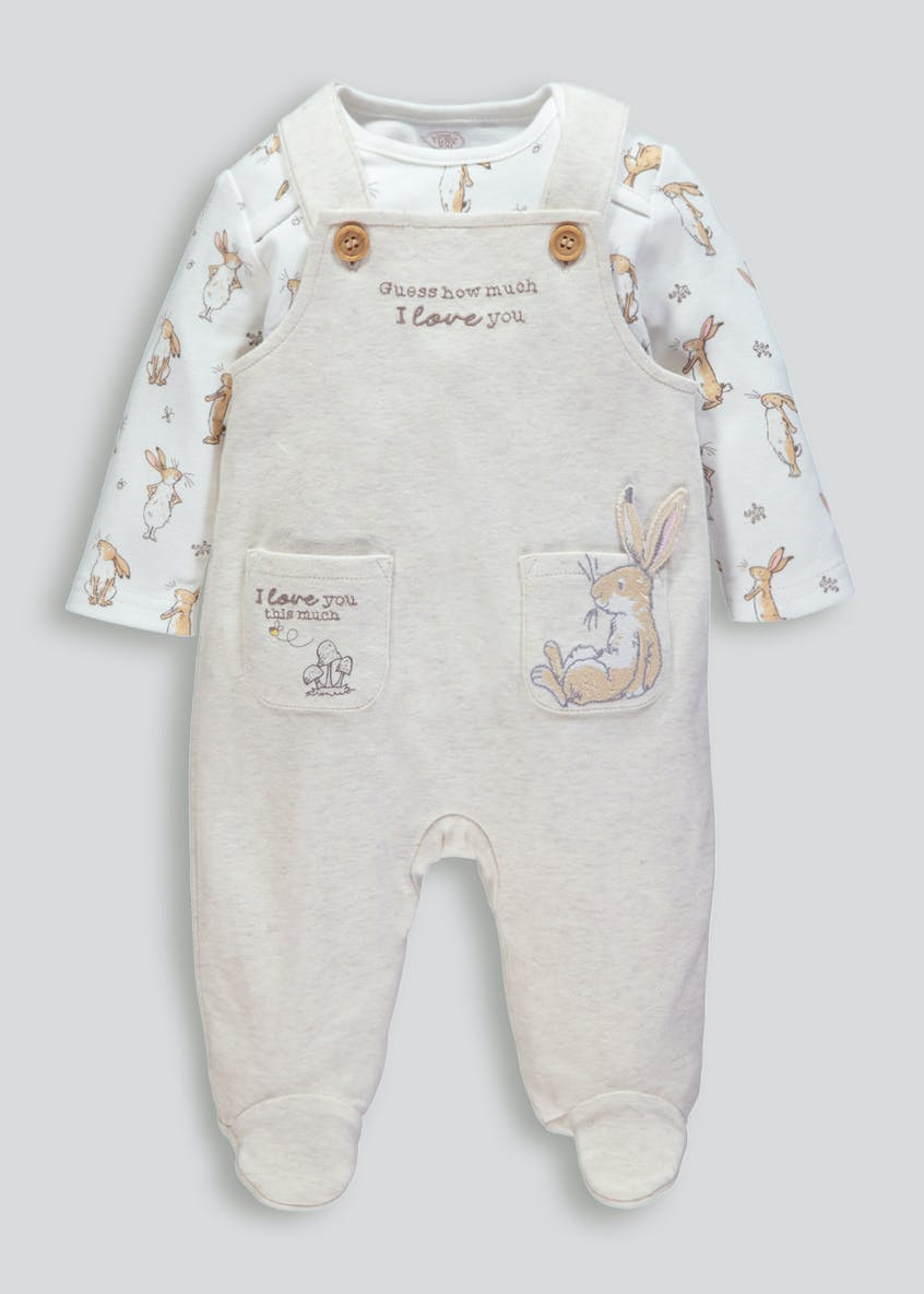 Unisex Guess How Much I Love You Dungarees & Bodysuit (Newborn-6mths)