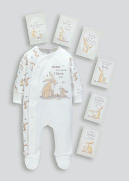 Unisex Guess How Much I Love You Sleepsuit & Milestone Cards (Newborn-6mths)