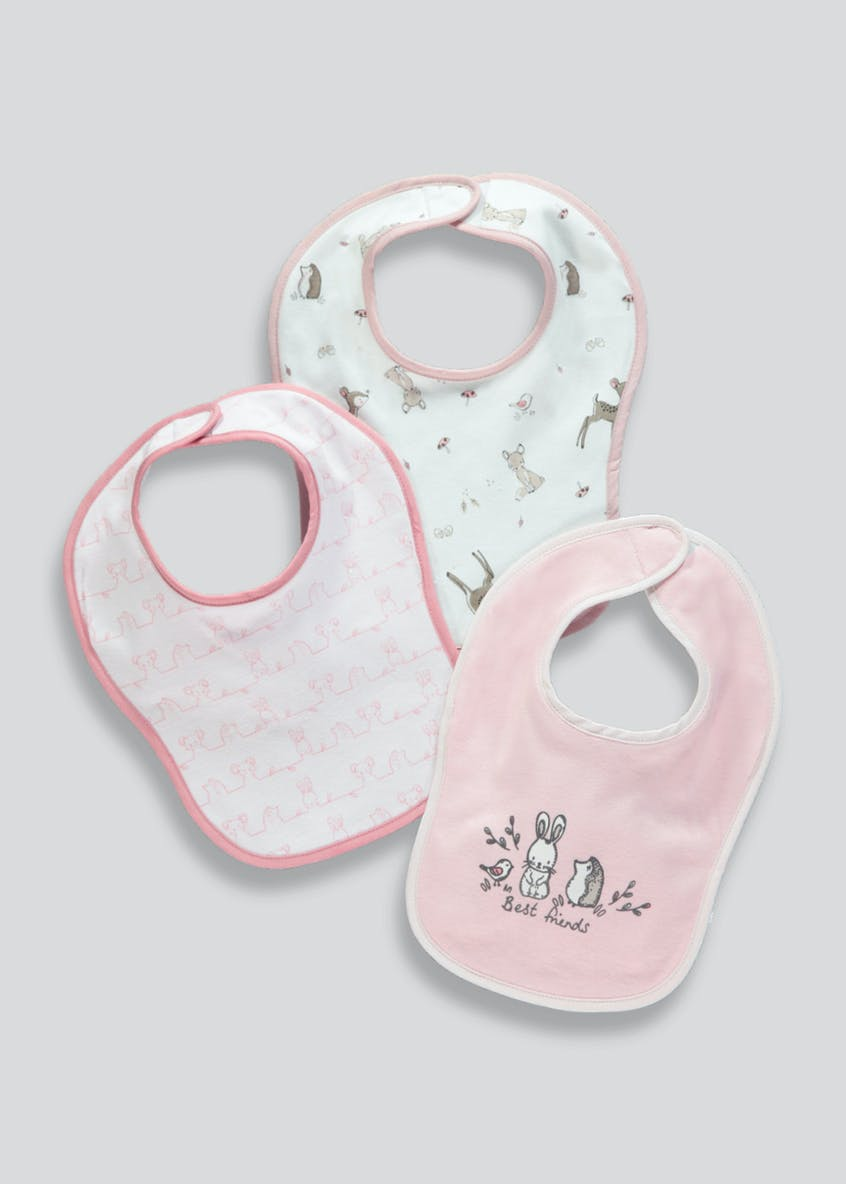 3 Pack Woodland Bibs (One Size)