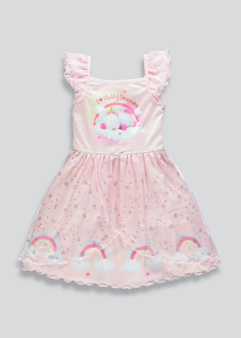 Kids Minions Fluffy the Unicorn Dress Up Nightie (2-9yrs)