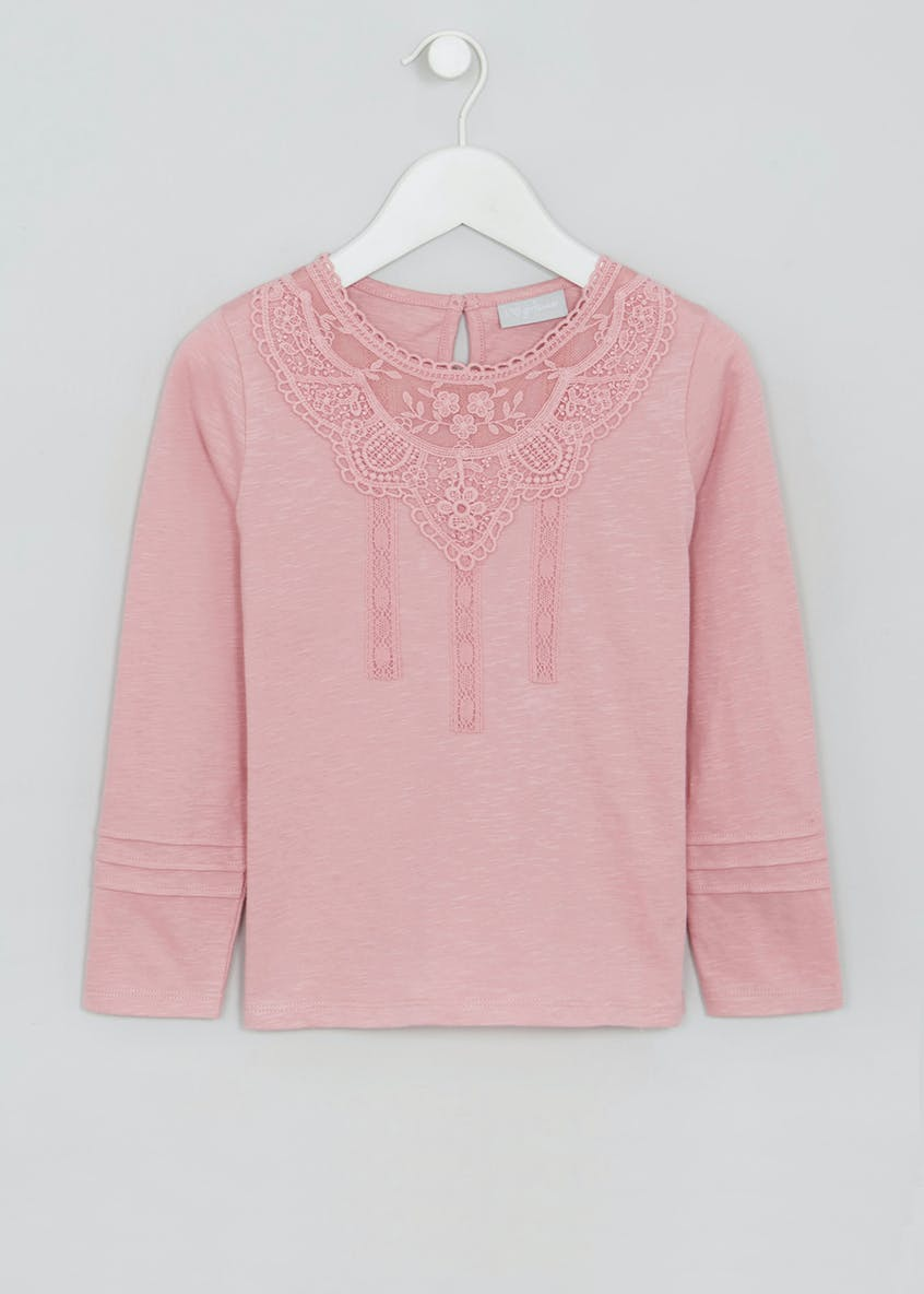 Girls Lace Detail T-Shirt (4yrs-13yrs)