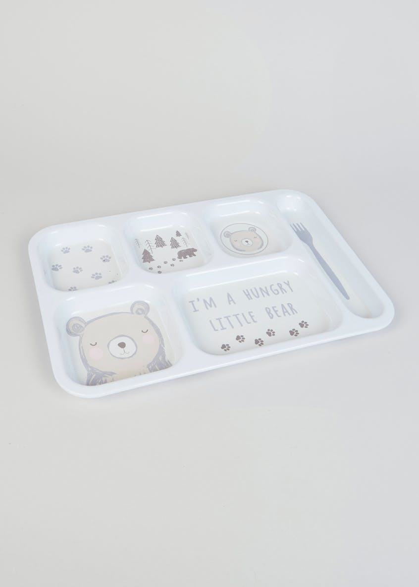 Kids Bear Sectioned Food Tray (37cm x 26cm)