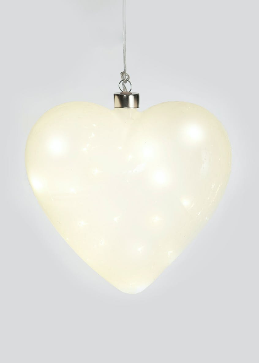 LED Frosted Hanging Heart (20cm)