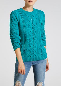 Bobble Twist Cable Jumper
