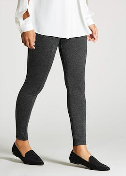 Seam Front Textured Leggings