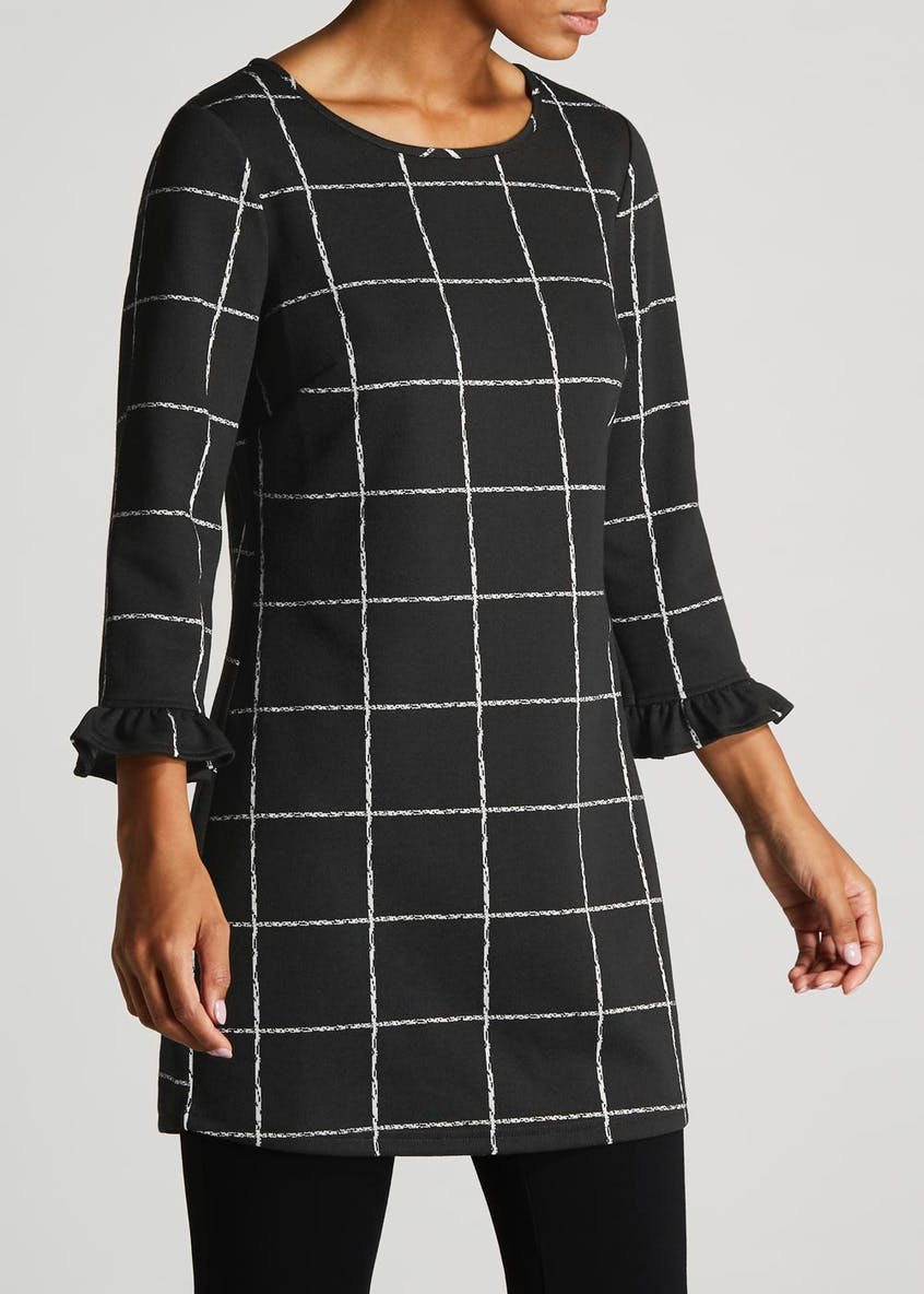 Grid Check Formal Tunic