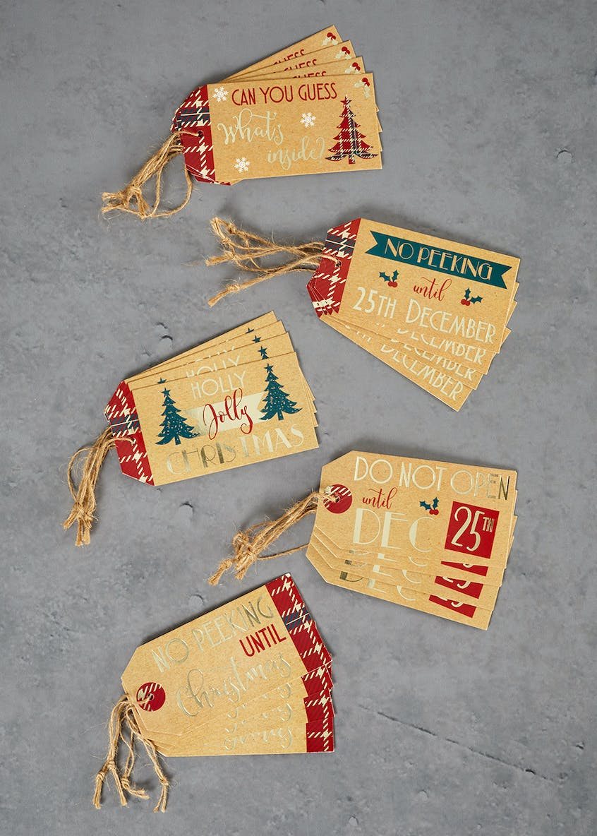 20 Pack Kraft Christmas Gift Tags (12cm x 6cm)