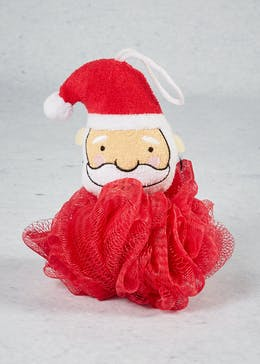 Santa Christmas Shower Puff (18cm x 14cm)