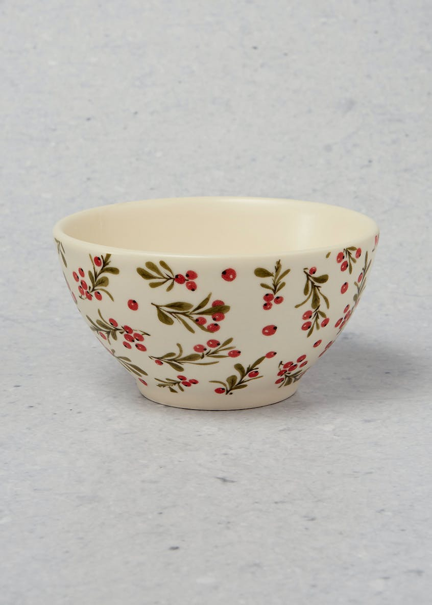 Holly Leaf Christmas Bowl (15cm)