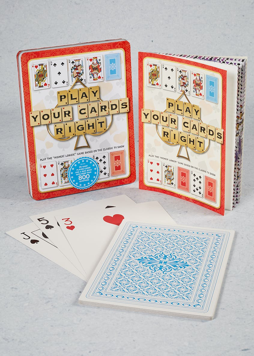 Giant Play Your Cards Right Game (28cm x 21cm x 3cm)