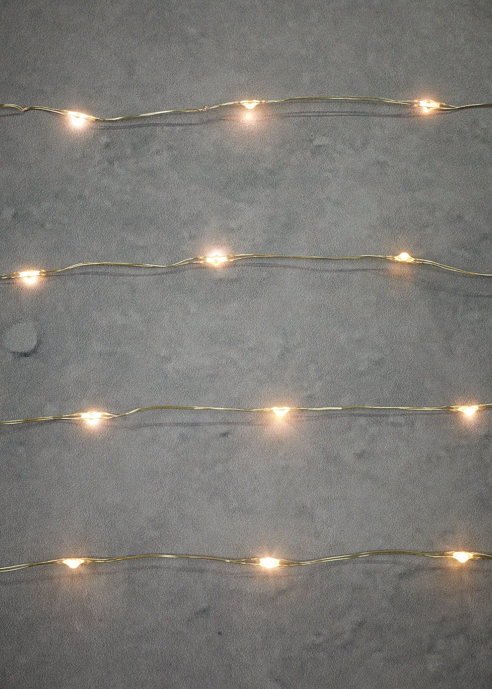 40 Silver Wire Micro LED Lights – White – Matalan