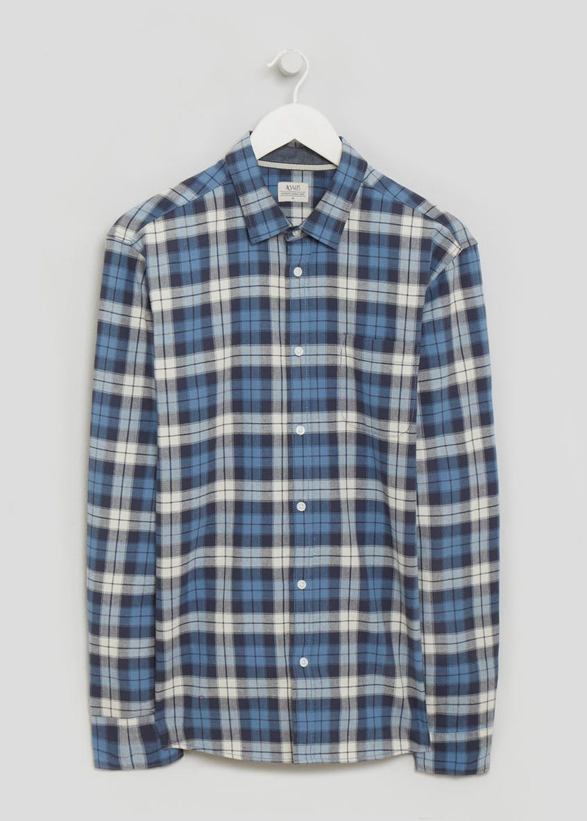 Big & Tall Long Sleeve Oxford Check Shirt